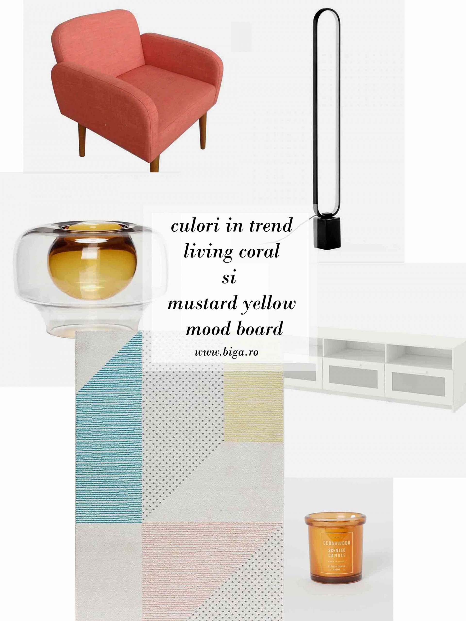 living coral si mustard yellow